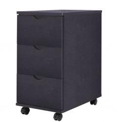 stradeXL Szafka z szufladami, 33 x 45 x 60 cm, czarna