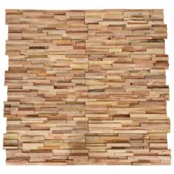 stradeXL Ścienne panele okładzinowe 3D, 10 szt., drewno tekowe, 1 m²
