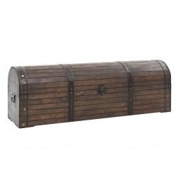 stradeXL Skrzynia do przechowywania, styl vintage, drewno, 120x30x40 cm