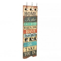 stradeXL Wall-mounted Coat Rack with 6 Hooks 120x40 cm HOME IS