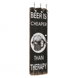 stradeXL Wall-mounted Coat Rack with 6 Hooks 120x40 cm BEER CHEAPER