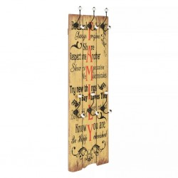 stradeXL Wall-mounted Coat Rack with 6 Hooks 120x40 cm FAMILY