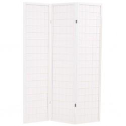 stradeXL Składany parawan 3-panelowy w stylu japońskim, 120x170, biały