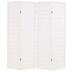 stradeXL Składany parawan 4-panelowy w stylu japońskim, 160x170, biały
