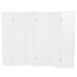 stradeXL Składany parawan 6-panelowy w stylu japońskim, 240x170, biały