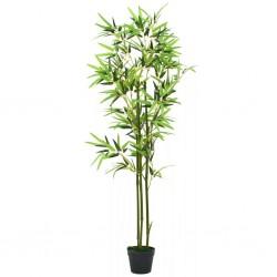 stradeXL Sztuczny bambus z doniczką, 150 cm, zielony