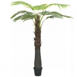 stradeXL Sztuczna palma z doniczką, 253 cm, zielona