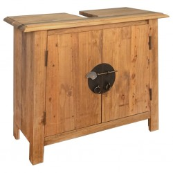 stradeXL Szafka łazienkowa pod umywalkę, drewno sosnowe, 70x32x63 cm