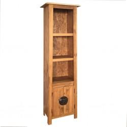 stradeXL Szafka do łazienki, lite drewno sosnowe z odzysku, 48x32x170 cm