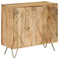 stradeXL Szafka z litego drewna mango, 80 x 30 x 75 cm