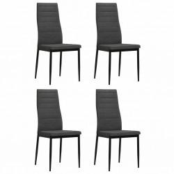 stradeXL Krzesła stołowe, 4 szt., ciemnoszare, tkanina