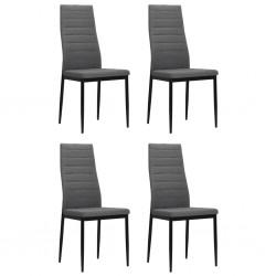 stradeXL Krzesła stołowe, 4 szt., jasnoszare, tkanina