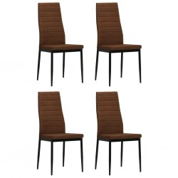 stradeXL Krzesła stołowe, 4 szt., brązowe, tkanina