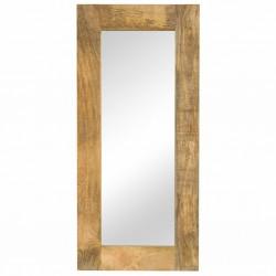 stradeXL Lustro z ramą z litego drewna mango, 50 x 110 cm