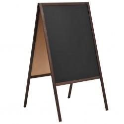 stradeXL Double-sided Blackboard Cedar Wood Free Standing 60x80 cm
