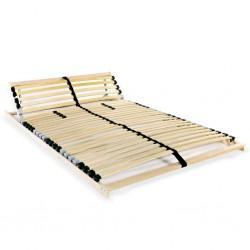 stradeXL Stelaż do łóżka z 28 listwami, 7 stref, 140 x 200 cm