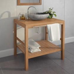 stradeXL Szafka łazienkowa pod umywalkę, lite drewno tekowe, 74x45x75 cm