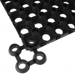 stradeXL Mat Connectors 10 pcs Rubber Black