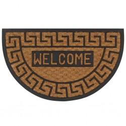 stradeXL Doormat Coir and Rubber Half-round 45x75 cm