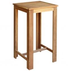 stradeXL Stolik barowy z litego drewna akacjowego, 60 x 60 x 105 cm