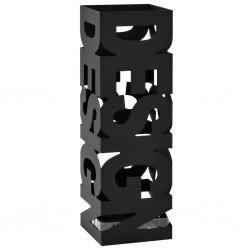 stradeXL Stojak na parasole w formie napisu design, stalowy, czarny
