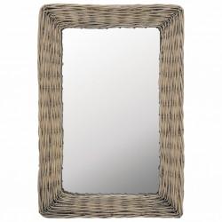 stradeXL Mirror Wicker Brown 40x60 cm