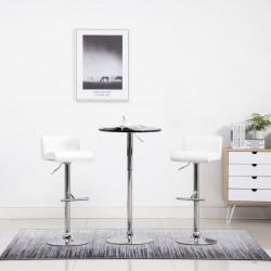 stradeXL Krzesła barowe, 2 szt., białe, sztuczna skóra
