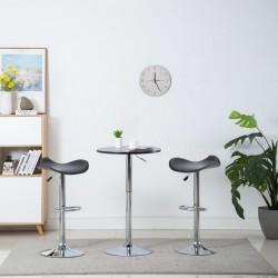stradeXL Obrotowe stołki barowe, 2 szt., czarne, sztuczna skóra