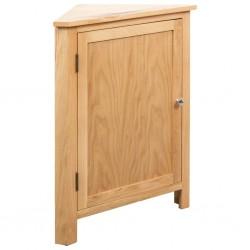 stradeXL Szafka narożna, 59 x 36 x 80 cm, lite drewno dębowe
