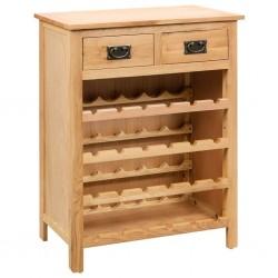 stradeXL Szafka na wino, 72 x 32 x 90 cm, lite drewno dębowe