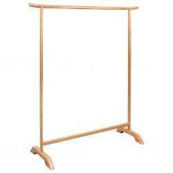 stradeXL Clothes Rack 125x175 cm Solid Oak Wood