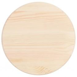 stradeXL Blat stołu, naturalne drewno sosnowe, okrągły, 25 mm, 40 cm