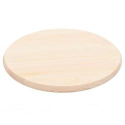 stradeXL Blat stołu, naturalne drewno sosnowe, okrągły, 25 mm, 50 cm