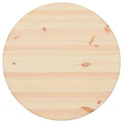 stradeXL Blat stołu, naturalne drewno sosnowe, okrągły, 25 mm, 60 cm