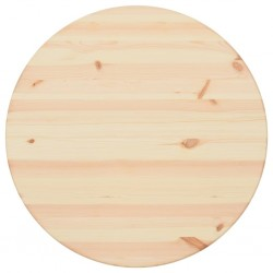 stradeXL Blat stołu, naturalne drewno sosnowe, okrągły, 25 mm, 80 cm