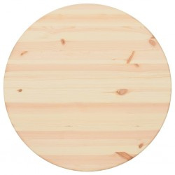 stradeXL Table Top Natural Pinewood Round 25 mm 90 cm