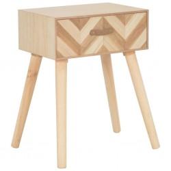 stradeXL Szafka nocna z szufladą, 44 x 30 x 58 cm, lite drewno