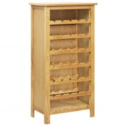 stradeXL Szafka na wino, 56 x 32 x 110 cm, lite drewno dębowe