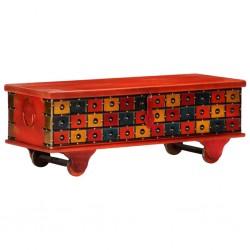 stradeXL Skrzynia, czerwona, 110 x 40 x 40 cm, lite drewno akacjowe