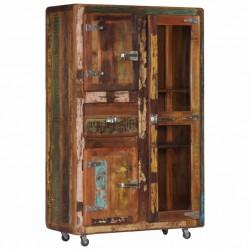 stradeXL Komoda, 90x42x142 cm, lite drewno odzyskane