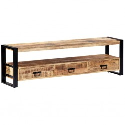 stradeXL Szafka pod telewizor, 150 x 30 x 45 cm, lite drewno mango