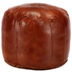 stradeXL Puf, brąz tan, 40x35 cm, prawdziwa kozia skóra