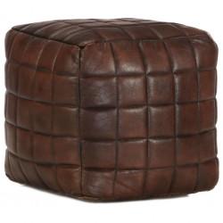 stradeXL Puf, ciemny brąz, 40x40x40 cm, prawdziwa kozia skóra