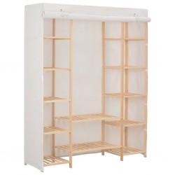 stradeXL Szafa, biała, 135 x 40 x 170 cm, materiałowa