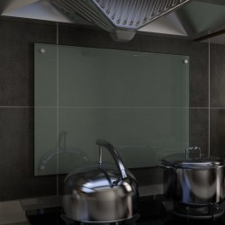 stradeXL Panel ochronny do kuchni, biały, 70x50 cm, szkło hartowane