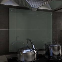 stradeXL Panel ochronny do kuchni, biały, 70x60 cm, szkło hartowane