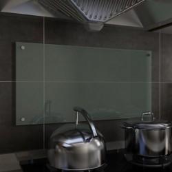 stradeXL Panel ochronny do kuchni, biały, 80x40 cm, szkło hartowane