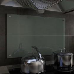 stradeXL Panel ochronny do kuchni, biały, 80x50 cm, szkło hartowane