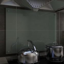 stradeXL Panel ochronny do kuchni, biały, 80x60 cm, szkło hartowane