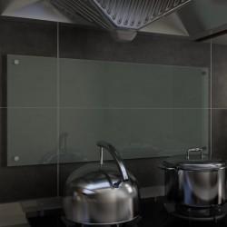 stradeXL Panel ochronny do kuchni, biały, 90x40 cm, szkło hartowane